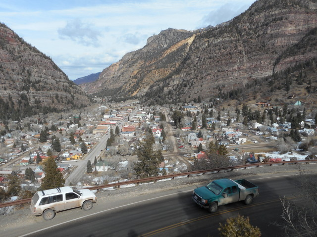 Ouray, morning of 2-5-2018_ looking north
