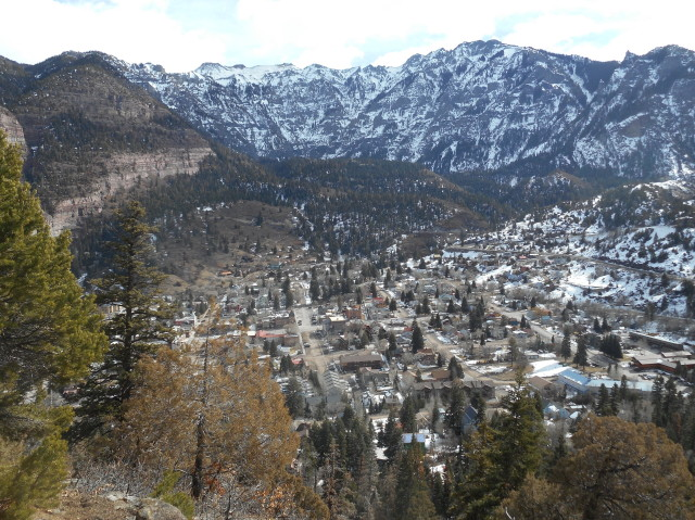 Ouray, morning of 2-5-2018_ looking east